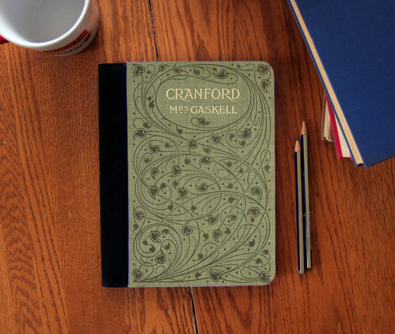 Cranford Elizabeth Gaskell Old Book Cover canvas Notebook 3 Sizes!