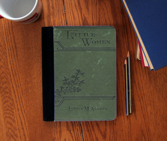 Little Women Louisa Alcott Old Book Cover  canvas Notebook 3 Sizes! - Consulting Fangeeks - 1