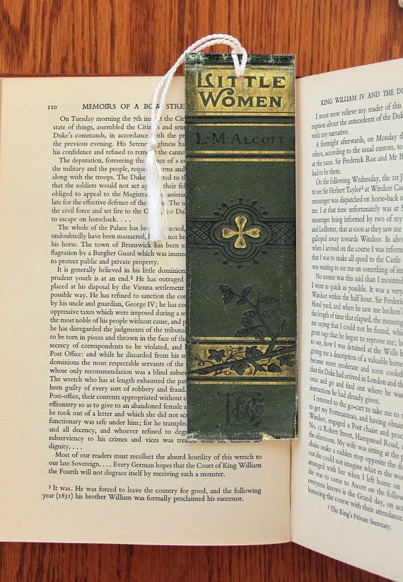 Little Women Book Spine  Felt Bookmark