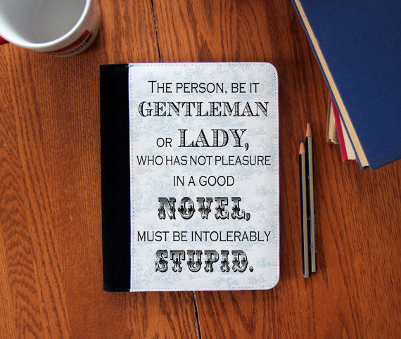 Intolerably Stupid Jane Austen Quote canvas Notebook 3 Sizes! - Consulting Fangeeks - 1