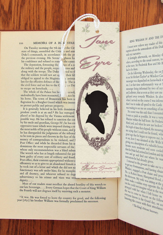 Jane Eyre & Edward Rochester  Double Sided  Felt Bookmark