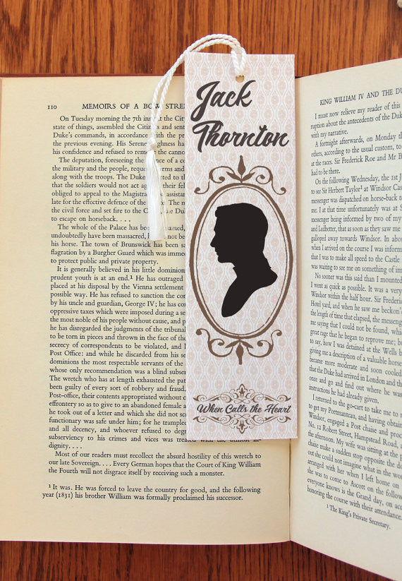 Jack Thornton & Elizabeth Thatcher double sided Felt Bookmark