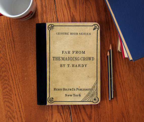 Far From the Madding Crowd Old Book Cover  canvas Notebook 3 Sizes!
