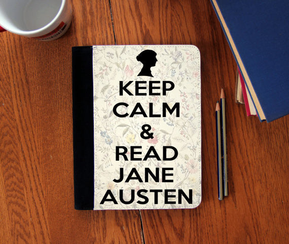 Keep Calm & Read Jane Austen   Faux Suede Notebook 3 Sizes!