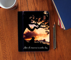 """Tomorrow is Another Day "" scarlett o'hara Quote canvas Notebook 3 Sizes! - Consulting Fangeeks - 1"