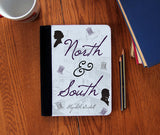 North & South Book Cover  canvas Faux Suede Notebook 3 Sizes! - Consulting Fangeeks - 1