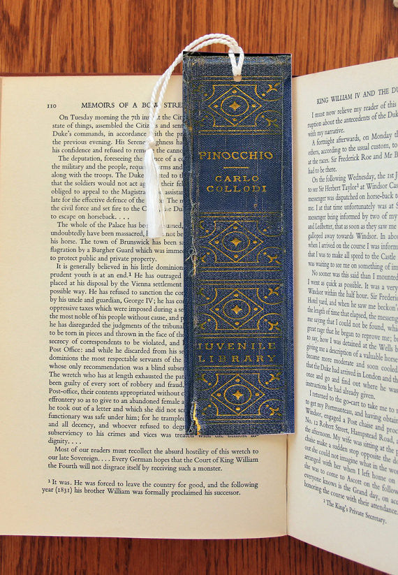 Pinocchio Book Spine  Felt Bookmark - Consulting Fangeeks - 1