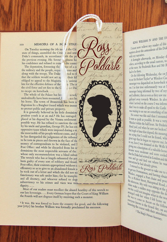 Ross Poldark & Demelza Carne Double Sided  Felt Bookmark - Consulting Fangeeks - 1
