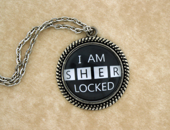 I Am SHERlocked Metal Pendant Necklace