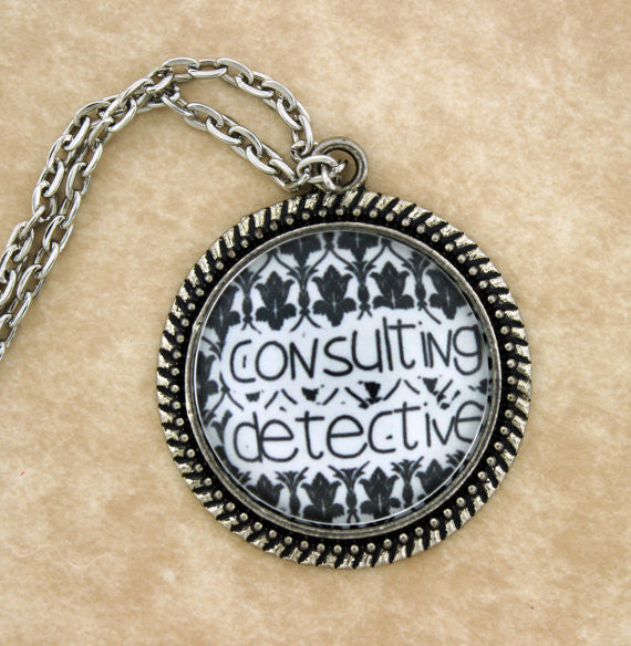 Consulting Detective Metal Pendant Necklace - Consulting Fangeeks - 1