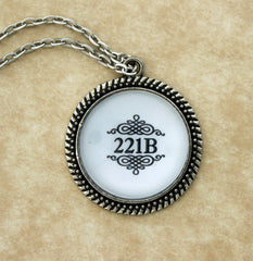 221B Metal Pendant Necklace - Consulting Fangeeks - 1