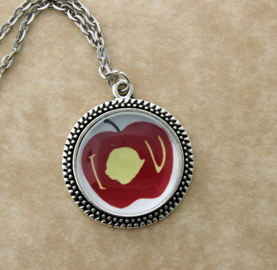 IOU Apple Metal Pendant Necklace - Consulting Fangeeks - 1
