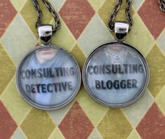 Consulting Detective & Consulting Blogger Friendship Necklace Set