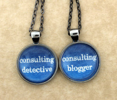 Consulting Detective & The Blogger Friendship Necklace Set - Consulting Fangeeks - 1