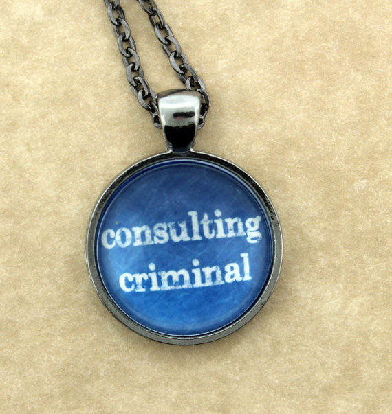 Consulting Criminal Metal Pendant Necklace - Consulting Fangeeks - 1