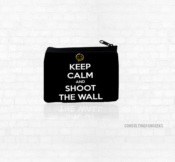 """Keep Calm"" Neoprene Coin Purse - Consulting Fangeeks - 1"