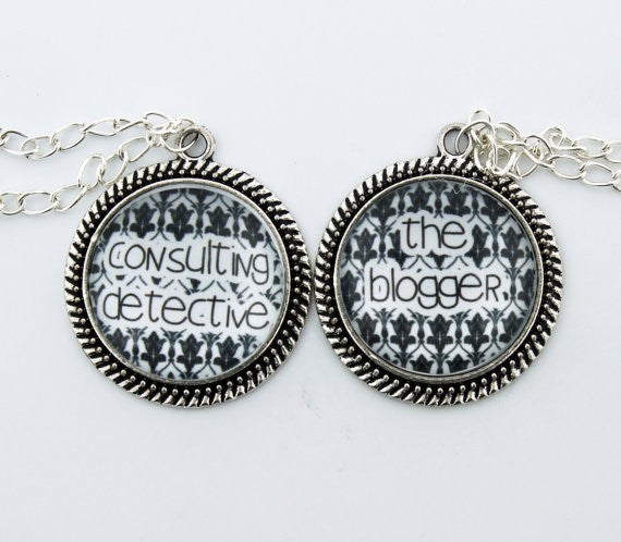 Consulting Detective & The Blogger Friendship Necklace Set