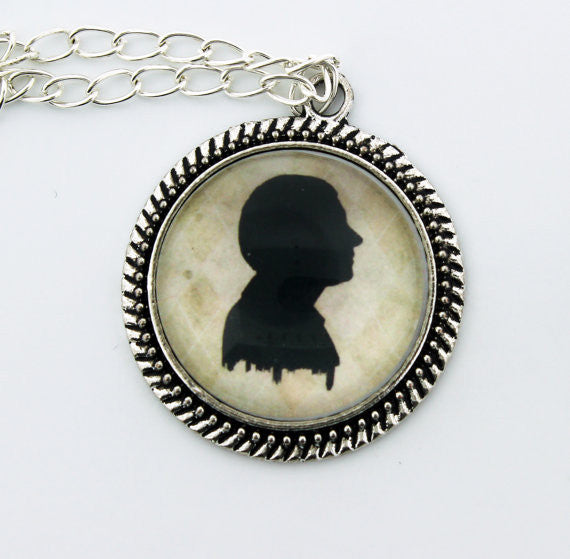 John Watson Silhouette Metal Pendant Necklace - Consulting Fangeeks - 1