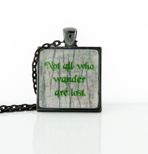 Not All Who Wander Necklace - Consulting Fangeeks