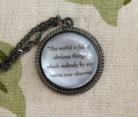 The World Is Full Metal Pendant Necklace - Consulting Fangeeks - 1