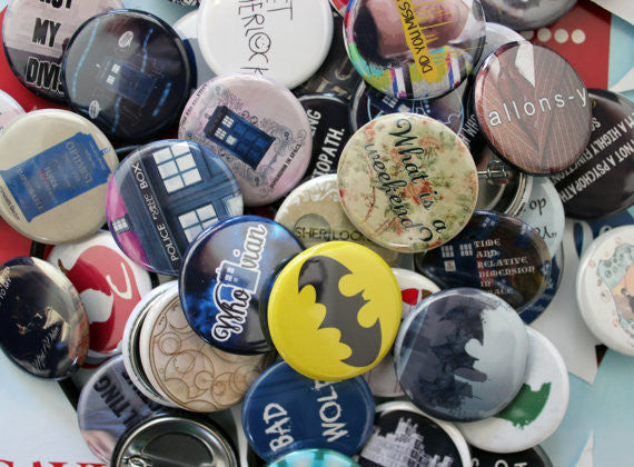 Sherlock Themed Pinback Buttons