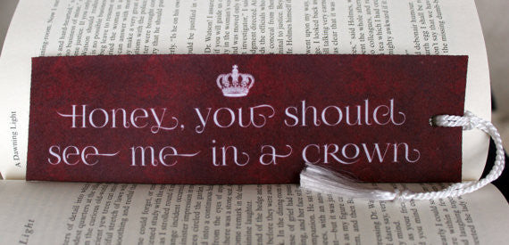 See Me in a Crown Felt Bookmark - Consulting Fangeeks - 1