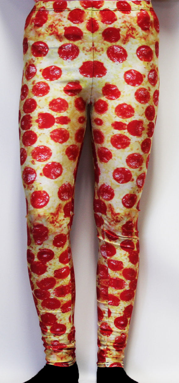 Pepperoni Pizza Stretchy Geek Leggings - Consulting Fangeeks - 1