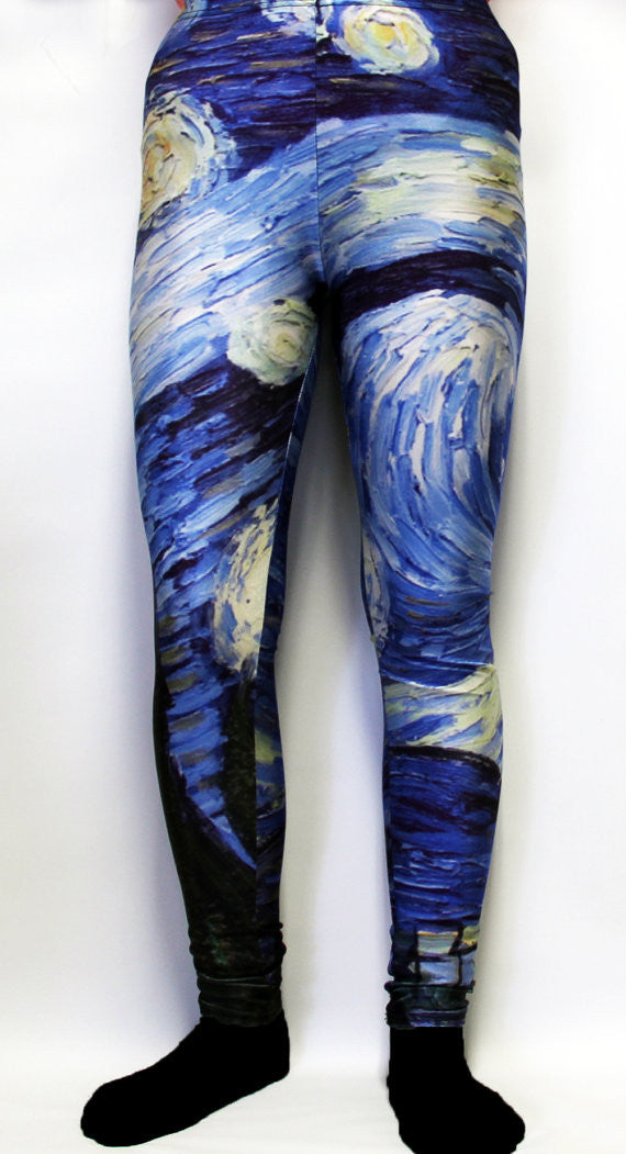 Starry Night Van Gogh Stretchy Geek Leggings - Consulting Fangeeks - 1