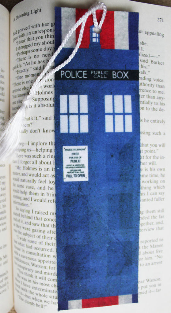 Police Box in London Felt Bookmark