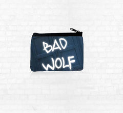 """BAD WOLF"" Neoprene Coin Purse - Consulting Fangeeks - 1"