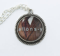 Allons-Y! Metal Pendant Necklace - Consulting Fangeeks - 1