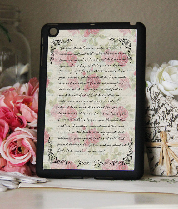 "Jane Eyre "" I am no Bird"" Book Quote iPad 2,3,4, iPad Mini, Kindle Fire Case - Consulting Fangeeks - 1"