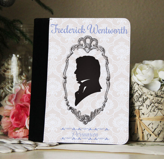 "Jane Austen Persuasion ""Wentworth"" iPad 2,3,4, iPad Mini, Canvas and Suede Protection Case"