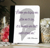 North & South Mr. Thornton Book Quote iPad 2,3,4, iPad Mini, Canvas and Suede Protection Case - Consulting Fangeeks - 1
