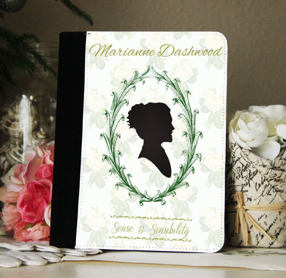 Jane Austen Sense & Sensibility Marianne iPad 2,3,4, iPad Mini, Canvas and Suede Protection Case
