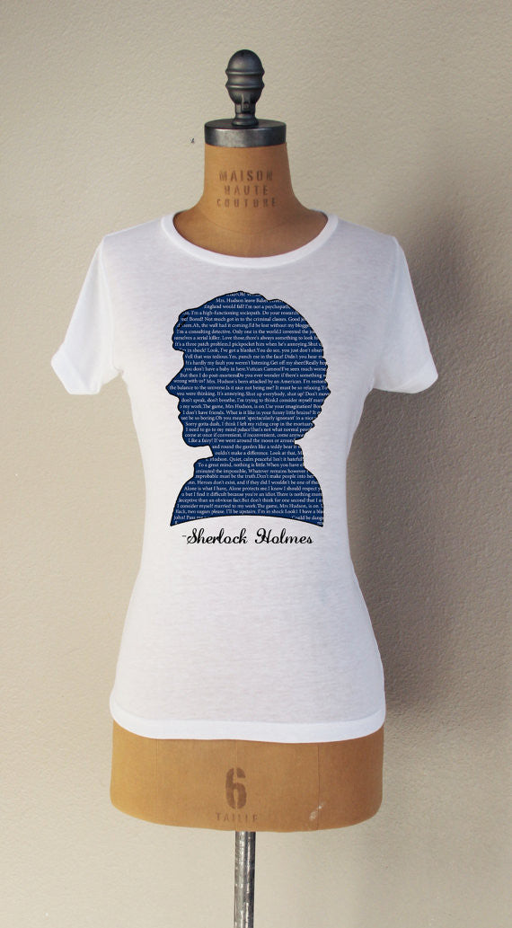 """Sherlock Quotes"" Short Sleeved T-Shirt - Consulting Fangeeks - 1"
