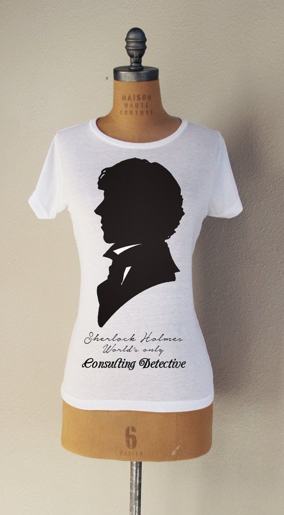 """Victorian Detective"" Short Sleeved T-Shirt - Consulting Fangeeks - 1"