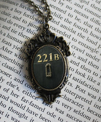 221B Baker street  , Door Metal Necklace - Consulting Fangeeks - 1