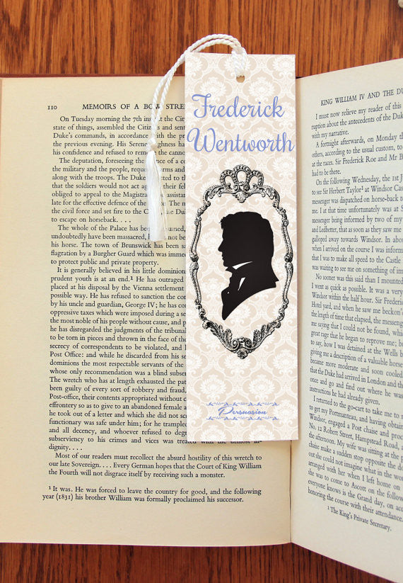 Persuasion Anne & Frederick  Double Sided  Felt Bookmark