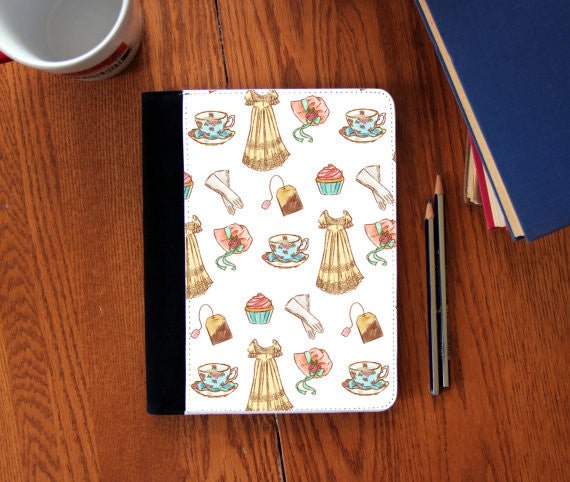 Jane Austen regency pattern journal canvas Notebook 3 Sizes!