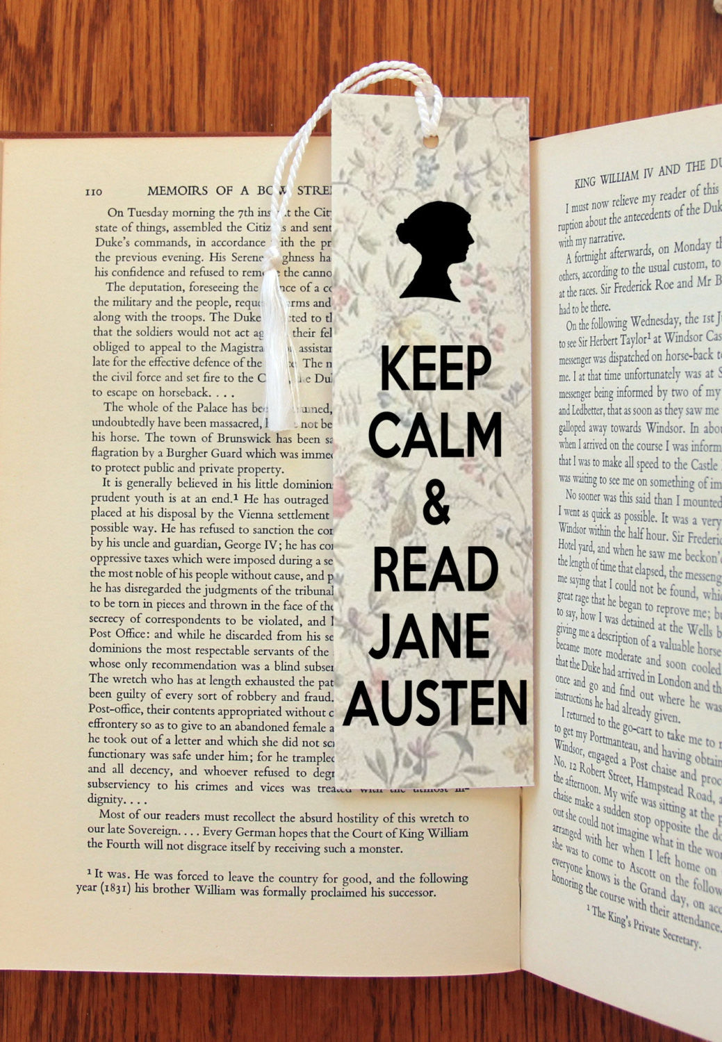 Keep Calm & Read Jane Austen Felt Bookmark - Consulting Fangeeks - 1