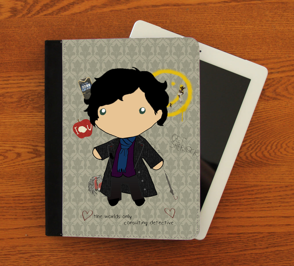 Baby Sherlock iPad 2,3,4, iPad Mini, Canvas and Suede Protection Case