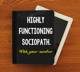 Functioning Sociopath iPad 2,3,4, iPad Mini, Canvas and Suede Protection Case - Consulting Fangeeks - 1