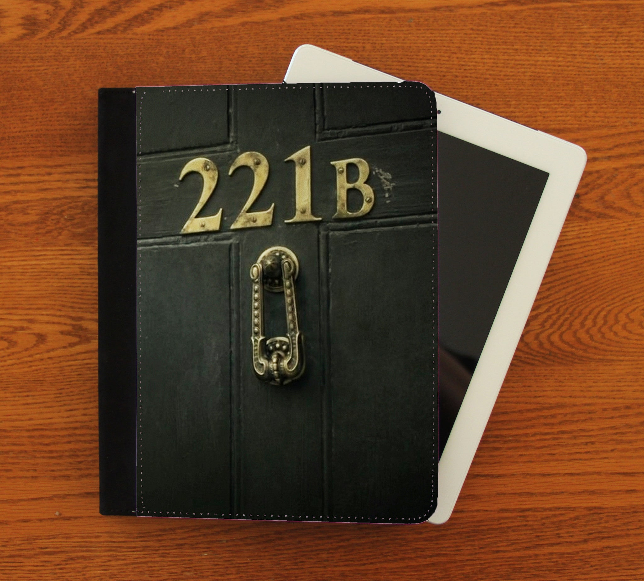 221b Door iPad 2,3,4, iPad Mini, Canvas and Suede Protection Case - Consulting Fangeeks - 1