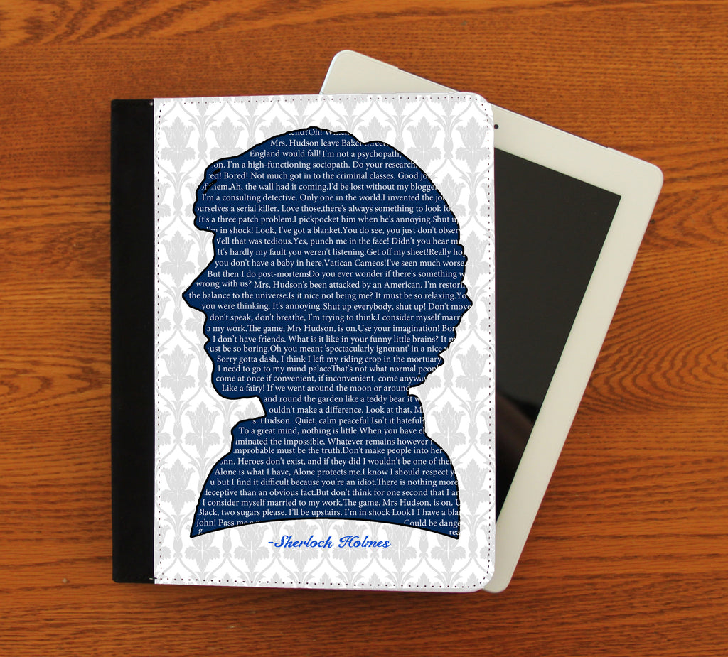 Sherlock Quotes iPad 2,3,4, iPad Mini, Canvas and Suede Protection Case