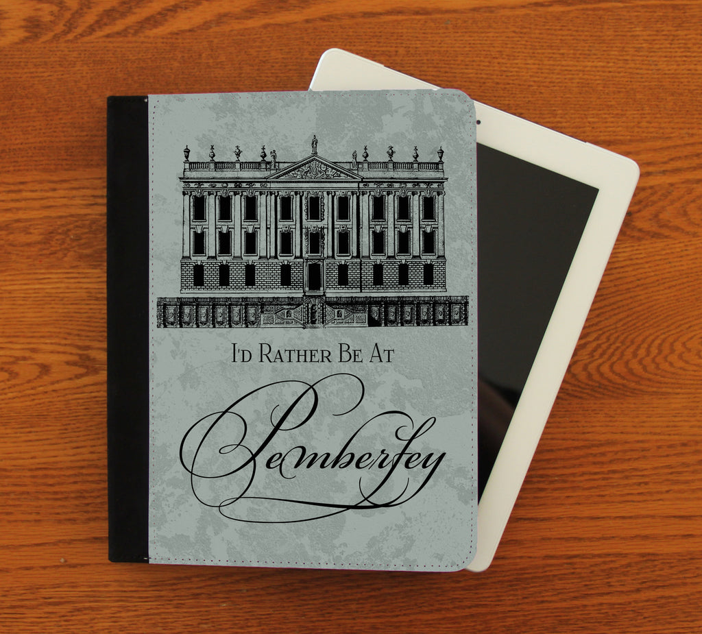 Rather Be at Pemberley iPad 2,3,4, iPad Mini, Canvas and Suede Protection Case