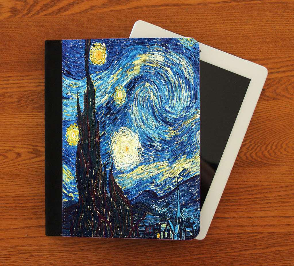 Starry Night iPad 2,3,4, iPad Mini, Canvas and Suede Protection Case