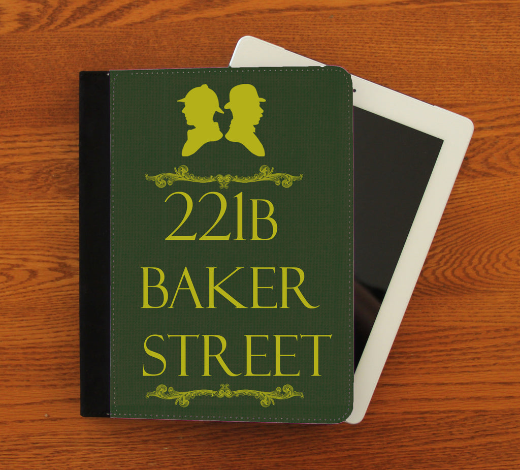 221b Baker Street iPad 2,3,4, iPad Mini, Canvas and Suede Protection Case