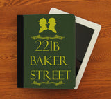 221b Baker Street iPad 2,3,4, iPad Mini, Canvas and Suede Protection Case - Consulting Fangeeks - 1