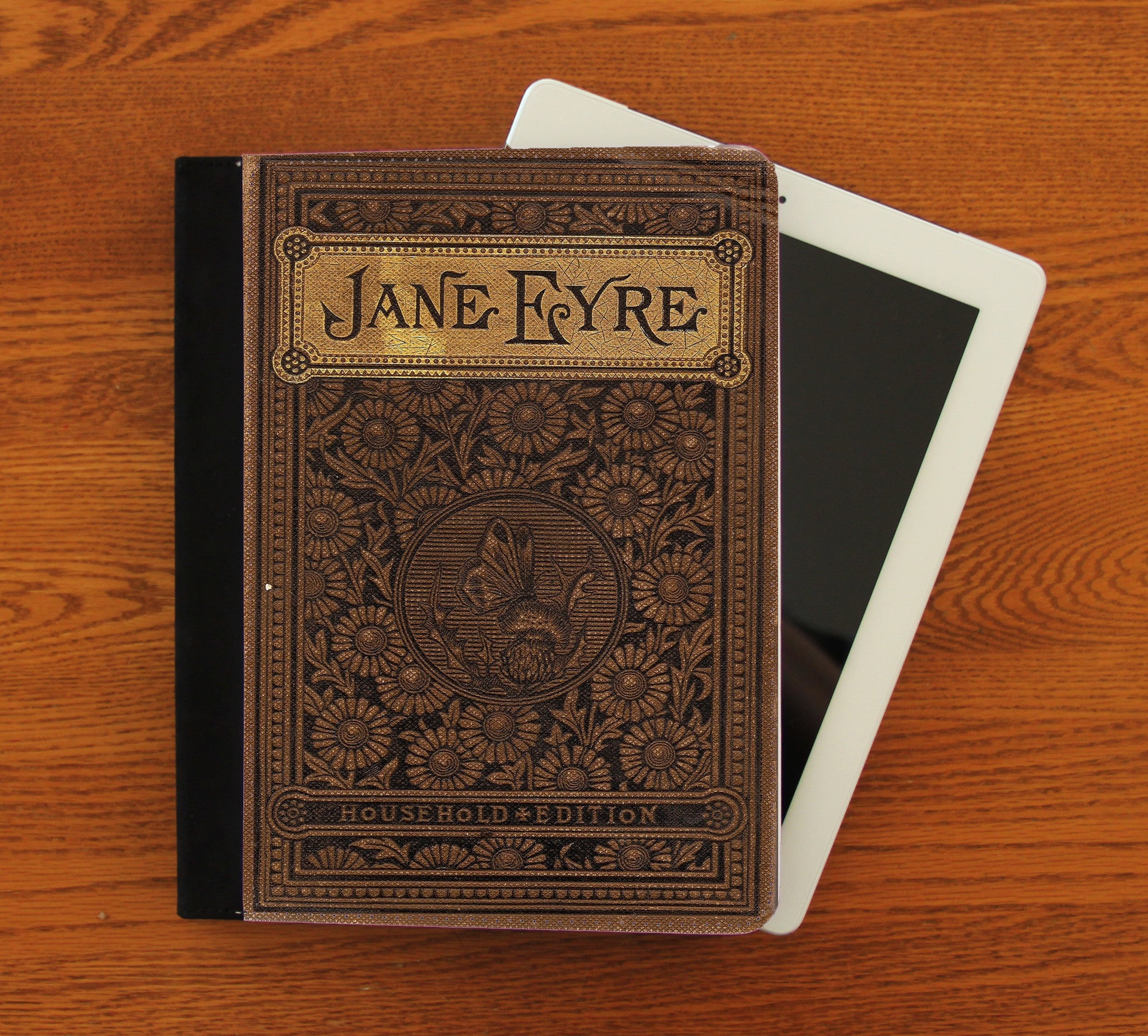 Jane Eyre iPad 2,3,4, iPad Mini, Canvas and Suede Protection Case - Consulting Fangeeks - 1